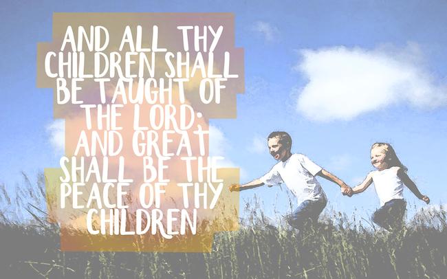 Spread the Good Word: Isaiah 54:13