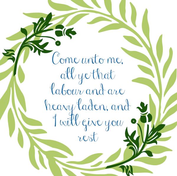 Spread the Good Word: Matt. 11:28